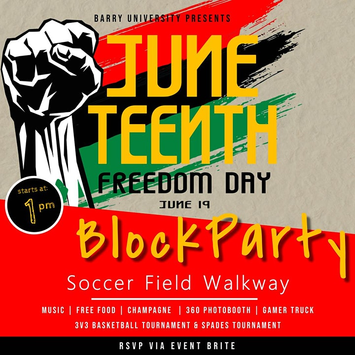 June Teenth Freedom Day Block Party (Barry Faculty Staff and Students ) image