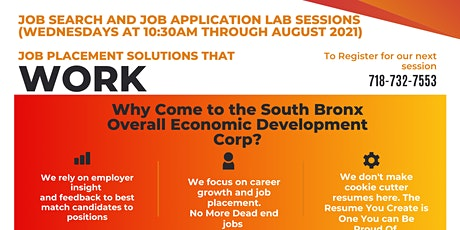 SoBro Training Registration and Job Application Assistance Lab tickets
