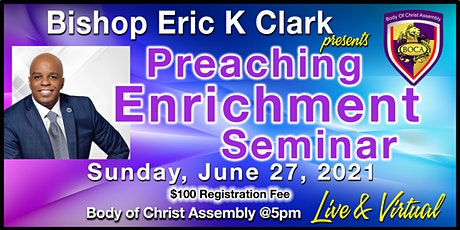 Preaching Enrichment Seminar (Live & Virtual) tickets