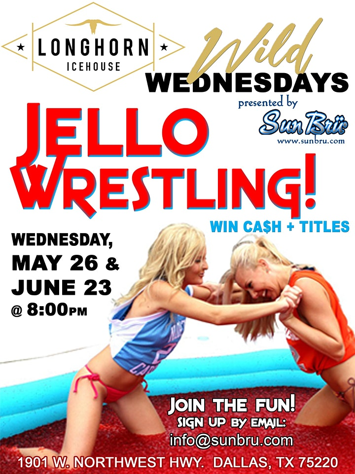 Live JELLO WRESTLING - $500 cash to the winner!  FREE to the public! image