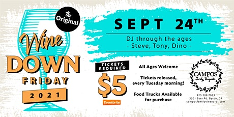 The Original Wine Down Friday - DJ Thru the Ages! THE LAST ONE OF 2021! tickets