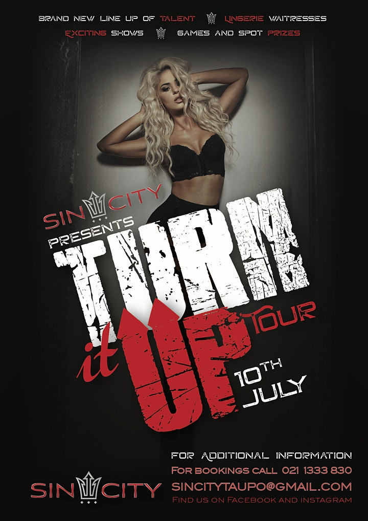 Sin City Taupō presents the TURN IT UP TOUR! image