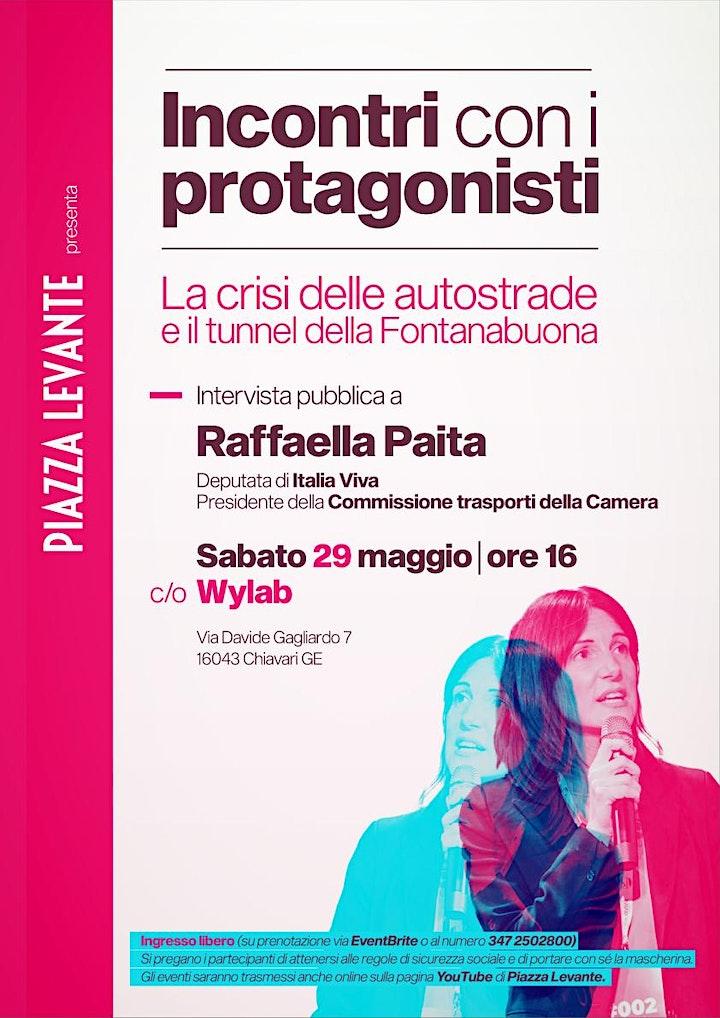 """Immagine """"INCONTRI CON I PROTAGONISTI"""": INTERVISTA PUBBLICA A RAFFAELLA PAITA"""