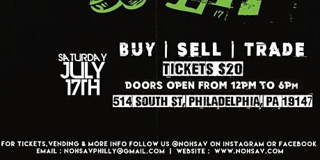 Nohsav Presents : Drip Or Flip Philly Sneaker Show tickets