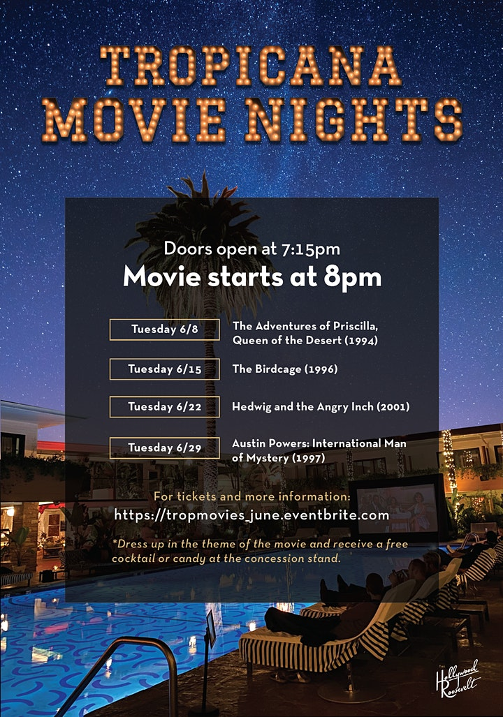 Tropicana Movie Nights @ The Hollywood Roosevelt image