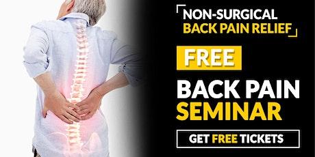 Free Back Pain Solution Seminar - Clovis, CA tickets