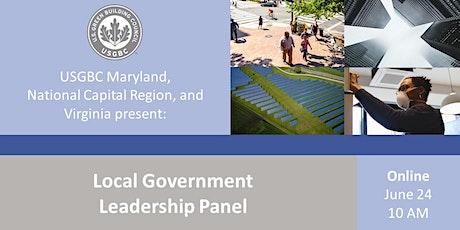 USGBC  MD, NCR, & VA Present: Local Government Leadership Panel tickets