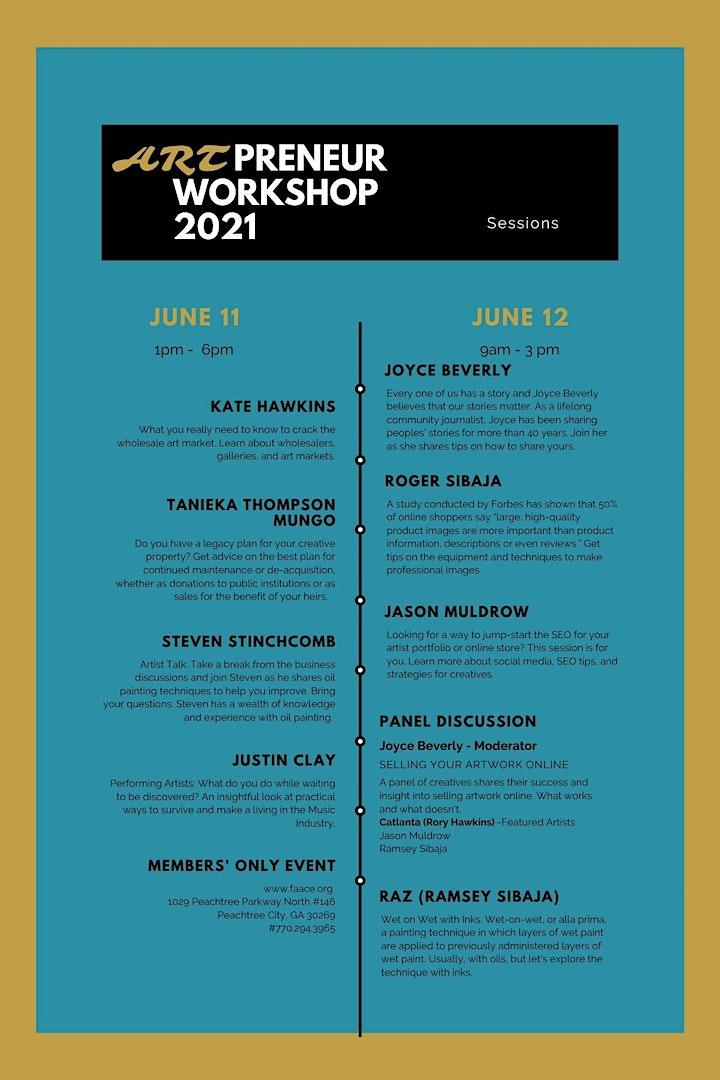 Artpreneur Workshop 2021 image