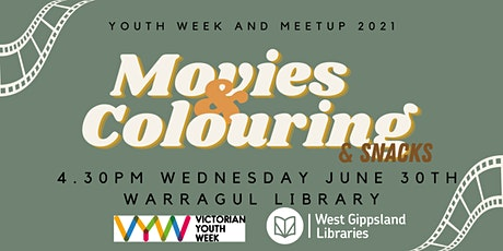 Movies & Colouring @ Warragul Library - School Holiday activity tickets