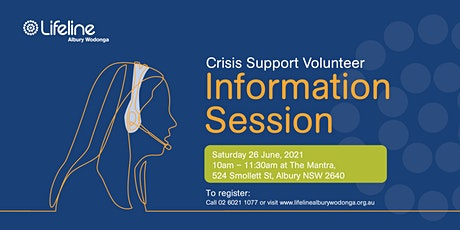 Become a  LIFELINE Volunteer Crisis Supporter Information Session tickets