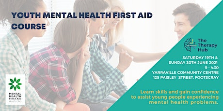 Youth Mental Health First Aid Melbourne 19 & 20 June tickets