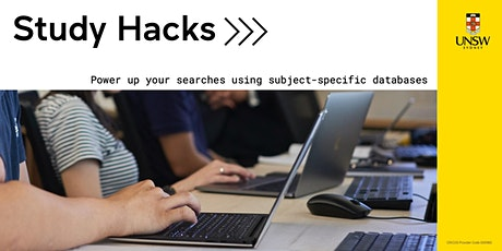 Study Hacks: Power up your searches with subject-specific databases tickets