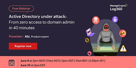 Active Directory under attack: From zero access to domain admin in 40 minut tickets