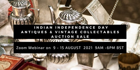 Indian Independence Day Antiques & Vintage Collectables Auction Sale tickets