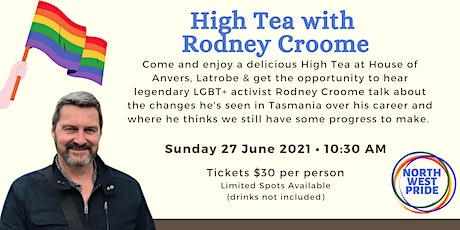 Anvers High Tea with Rodney Croome tickets