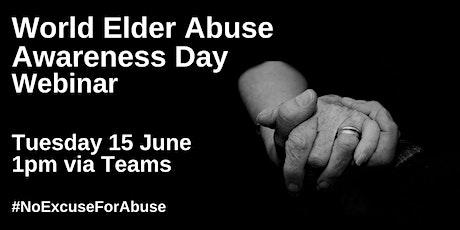 Elder Abuse Awareness Webinar tickets