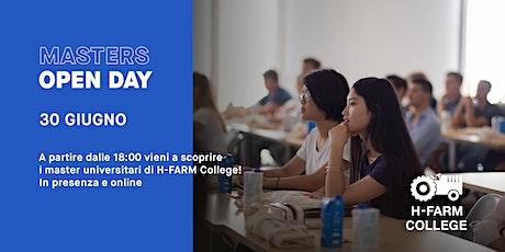 Open Day Online - Master Universitari | H-FARM College biglietti