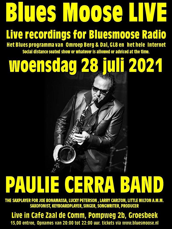 Afbeelding van Paulie Cerra band live at Bluesmoose Radio (€15,00  betaal aan kassa)