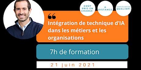 FORMATION / Intégration de technique d'IA dans les métiers et organisations billets