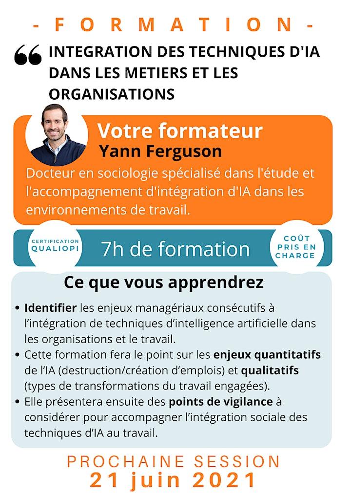 Image pour FORMATION / Intégration de technique d'IA dans les métiers et organisations