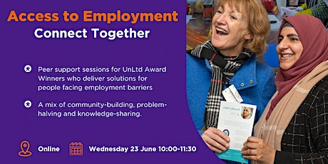 Access to Employment - Connect Together Peer Support session tickets