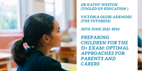 Tooled Up Education and The Tutoress: Preparing Children for the 11+ Exam: tickets