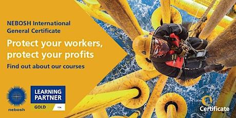 NEBOSH International General Certificate Live Online Course tickets