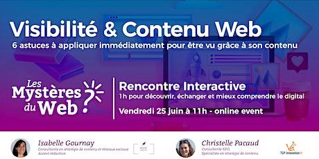 Visibilité et Contenu Web | LMDW billets