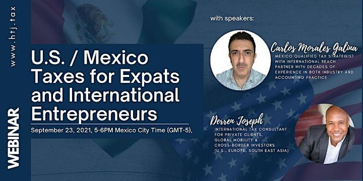 (WEBINAR) U.S./MEXICO TAXES FOR EXPATS  AND INTERNATIONAL ENTREPRENEURS image