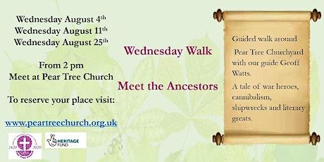 Meet the Ancestors - a guided walk of Pear Tree Churchyard tickets