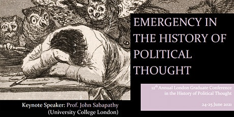 2021 London Graduate Conference in the History of Political Thought tickets