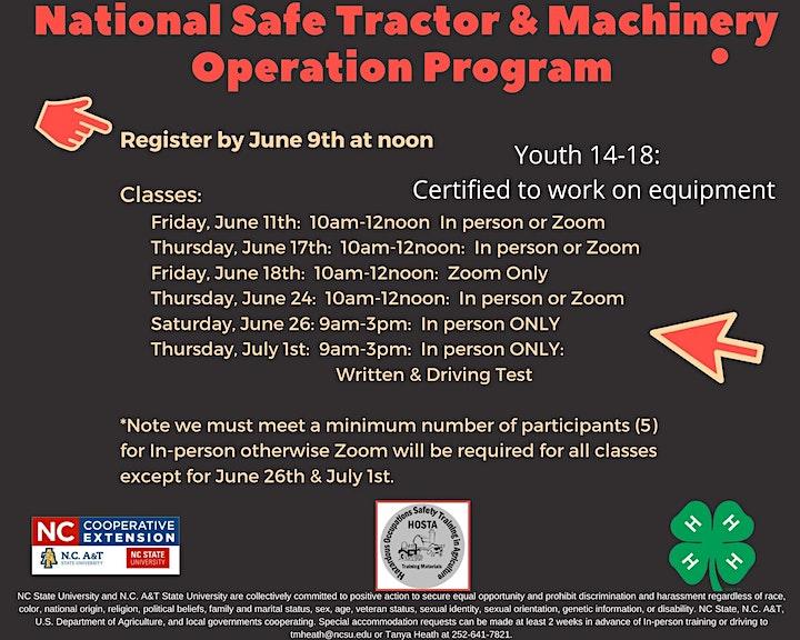 National Safe Tractor & Machinery Operation Program image