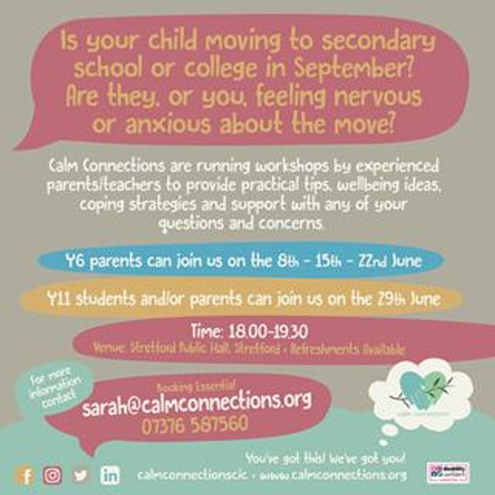 Transition Workshops for all the family image