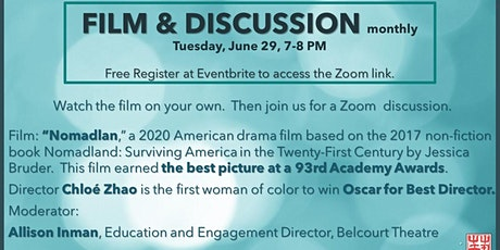 FILM & Discussion -  monthly (June 29, 2021) tickets