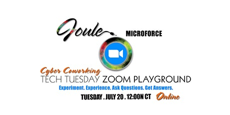 Cyber Coworking . Tech Tuesday . ZOOM PLAYGROUND tickets