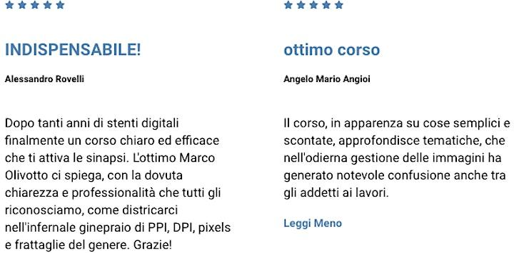 Immagine Risoluzione: chiedi a Marco Olivotto!