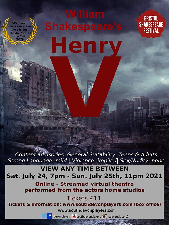 William Shakespeare's Henry V - The South Devon Players Theatre & Film Comp image