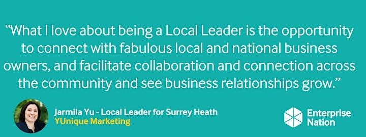 Online small business meet-up: Surrey Heath image