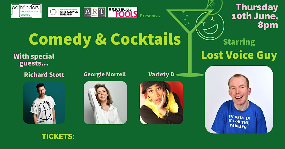 Comedy & Cocktails – a Pathfinders Neuromuscular Alliance fundraiser