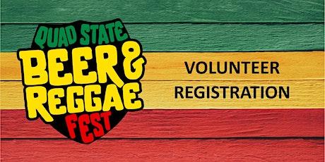 Quad State Beer & Reggae Fest VOLUNTEERS 2021 tickets