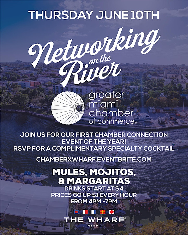 Networking on the River at The Wharf Miami with The Chamber of Commerce image