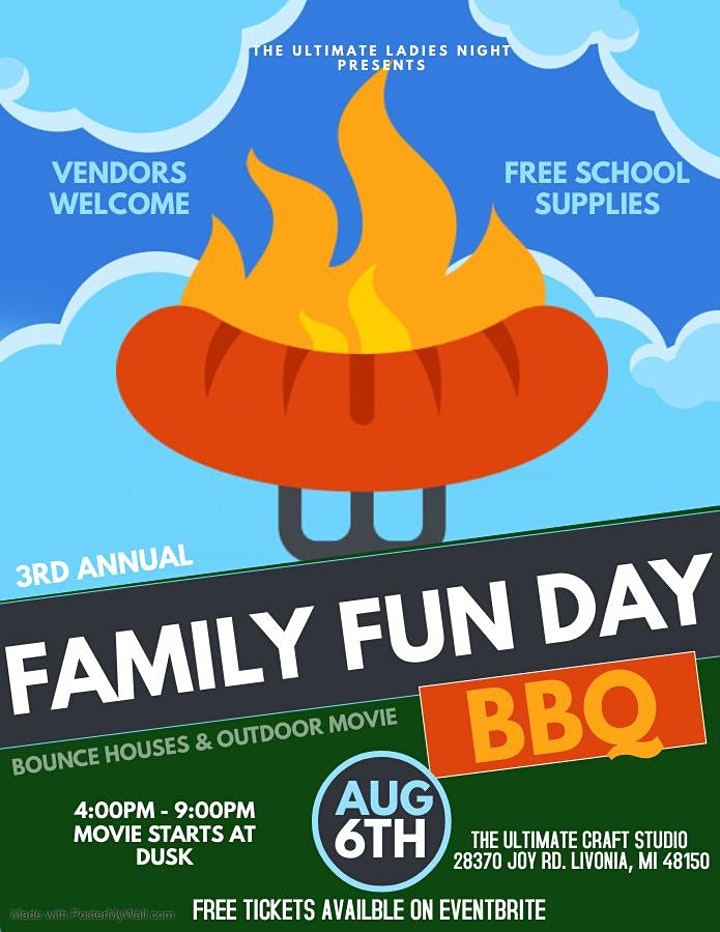 Free Family Fun Day BBQ presented by The Ultimate Ladies Night image