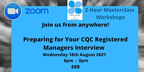 Preparing for your CQC Registered Manager Interview tickets
