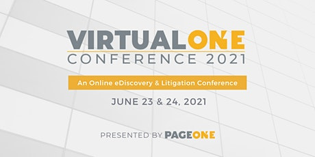 Virtual One Conference 2021 tickets