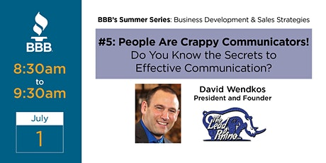 People Are Crappy Communicators! tickets
