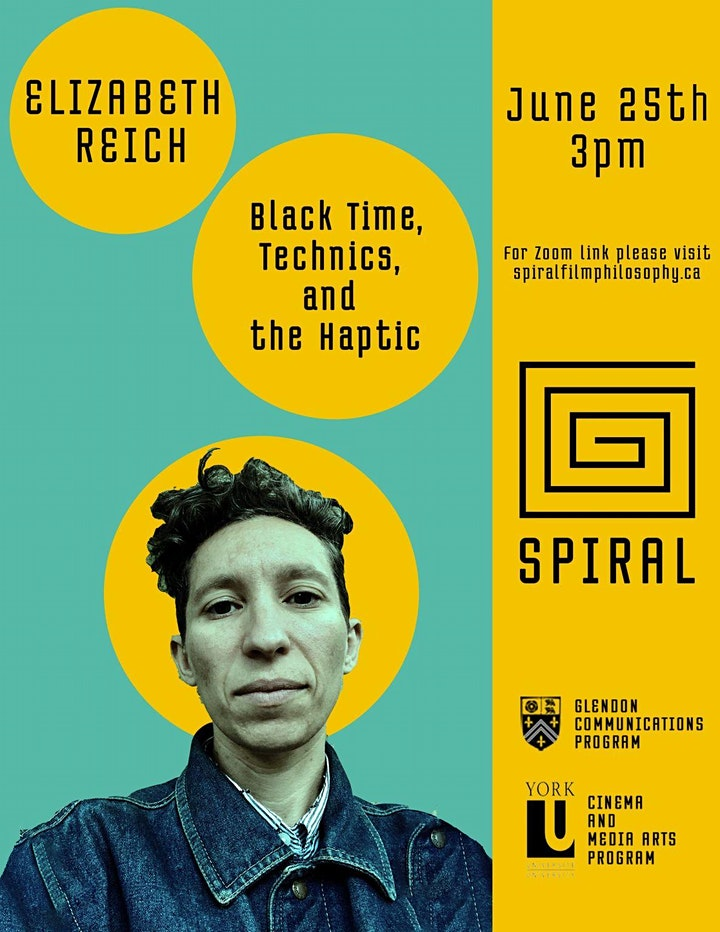 Black Time, Technics, and the Haptic - Public Talk by Elizabeth Reich image