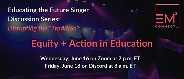 """Education the Future Singer Discussion Series: Disrupting the """"Tradition"""" image"""