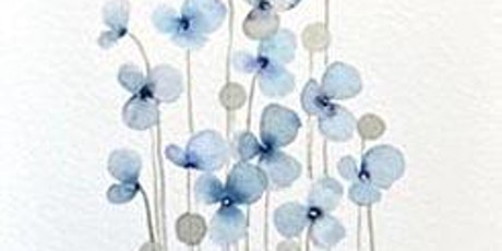 Blue Flowers with Watercolors, All ages are welcome tickets