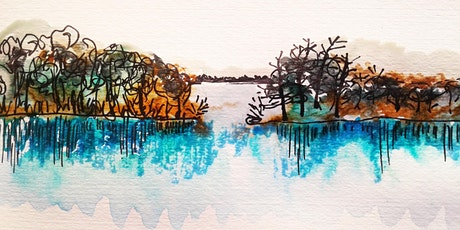 Easy Watercolor Landscape,   All ages are welcome tickets