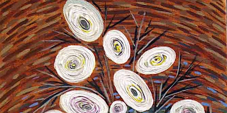 Abstract White Flowers Painting Class tickets